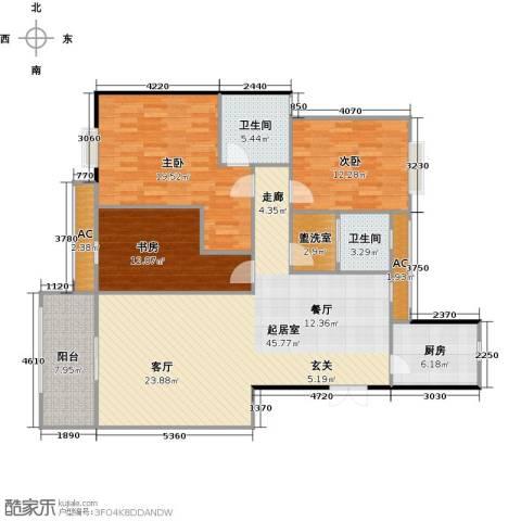长房东郡(二期)3室0厅2卫1厨129.00㎡户型图