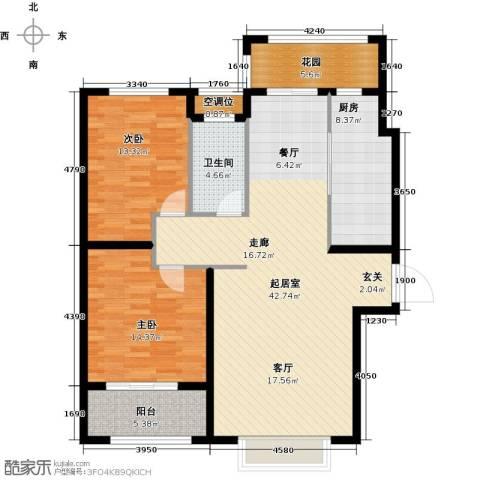 德州星凯国际广场2室0厅1卫1厨134.00㎡户型图