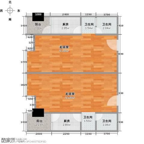 中远铭楼(中远公馆)2卫2厨57.01㎡户型图