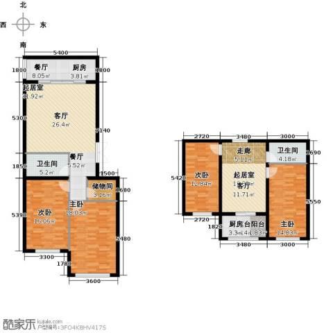 七彩时代广场二期4室1厅2卫0厨192.00㎡户型图