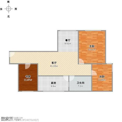 古银杏苑3室1厅1卫1厨133.00㎡户型图
