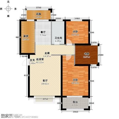 德州星凯国际广场3室0厅1卫1厨149.00㎡户型图