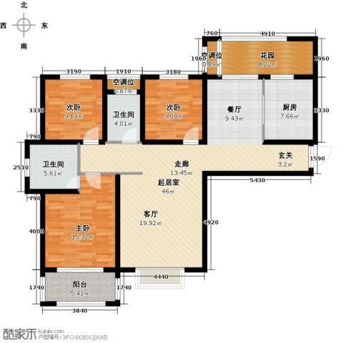 德州星凯国际广场3室0厅2卫1厨161.00㎡户型图