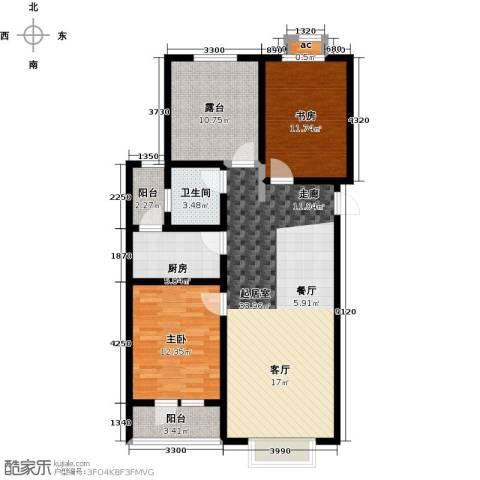 公园世家・观山樾2室0厅1卫1厨89.00㎡户型图