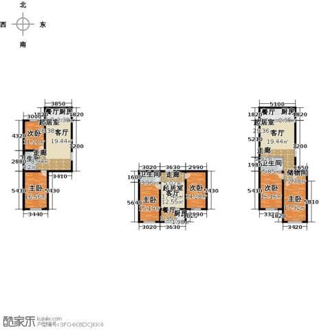 七彩时代广场二期6室3厅3卫0厨285.00㎡户型图