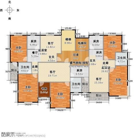 瑞恒水岸新城6室1厅3卫3厨300.00㎡户型图