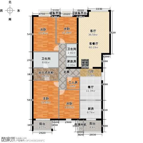 巴克寓所二期(摩界)4室1厅2卫1厨211.00㎡户型图