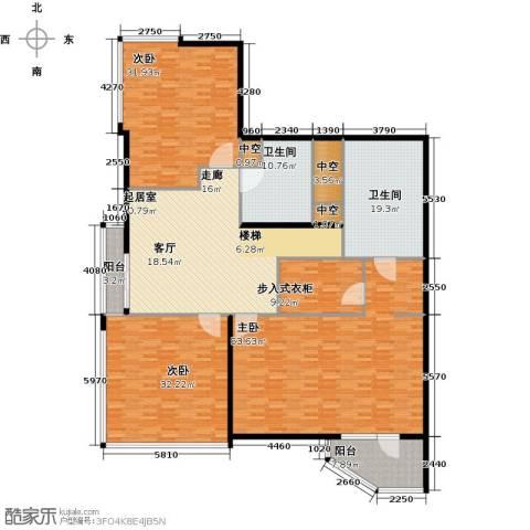 元嘉国际公寓(钛度)3室0厅2卫0厨230.00㎡户型图
