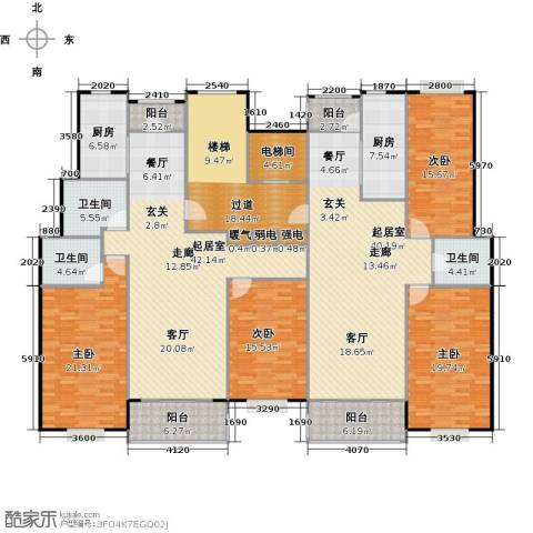 瑞恒水岸新城4室0厅3卫2厨302.00㎡户型图