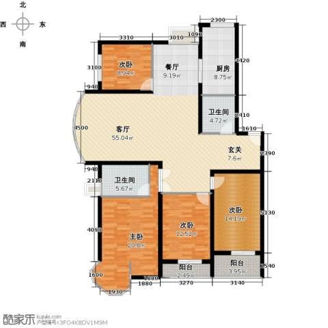 映天朗(五号公馆)4室1厅2卫1厨161.00㎡户型图