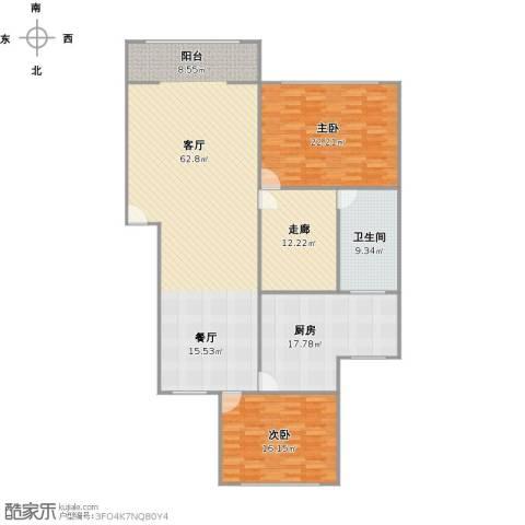 美树铭家2室1厅1卫1厨185.00㎡户型图