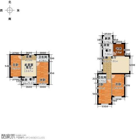 七彩时代广场二期5室1厅2卫1厨188.00㎡户型图