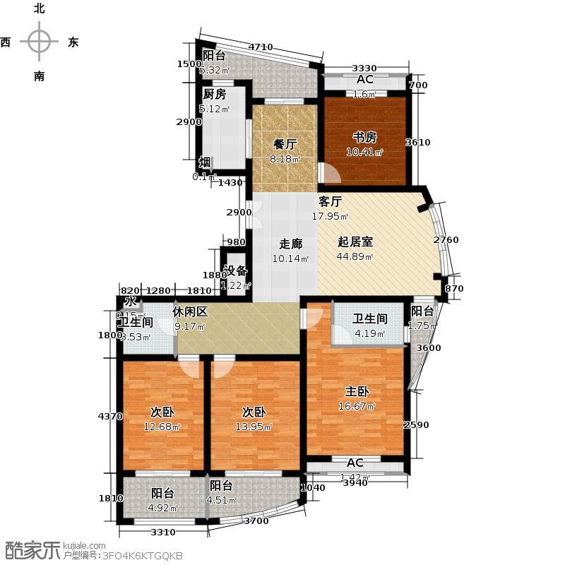 假日景苑160.00㎡四房二厅二卫-160-170平米-6套户型