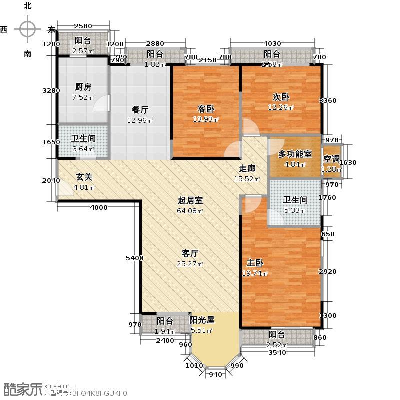 合生珠江罗马嘉园173.04㎡魅力探戈(反)户型