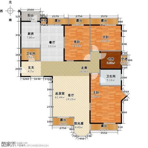 合生珠江罗马嘉园4室0厅2卫1厨176.00㎡户型图