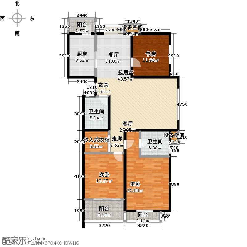 良辰美景一期三房,139平米户型