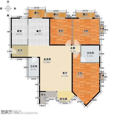 合生珠江罗马嘉园3室0厅2卫1厨149.00㎡户型图
