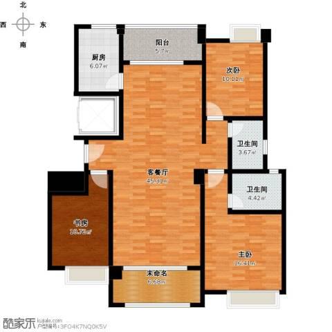 金龙华侨城3室1厅2卫1厨154.00㎡户型图