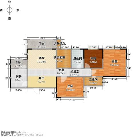 渝洲新城(三期)3室0厅2卫1厨92.97㎡户型图