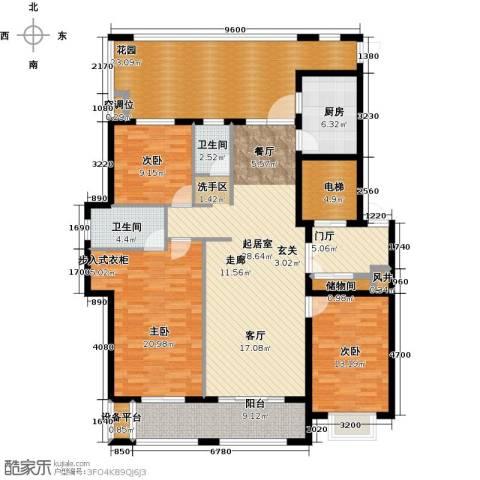 德州星凯国际广场3室0厅2卫1厨200.00㎡户型图