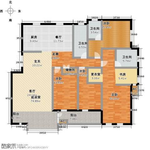 长城・都市阳光三期4室0厅3卫0厨197.00㎡户型图