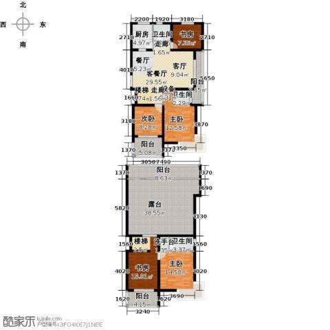 上书房5室1厅3卫1厨184.00㎡户型图