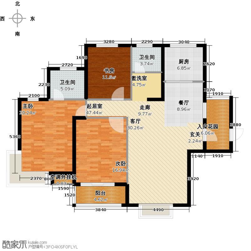 滨江明珠城138.77㎡三房二厅二卫-138.77平方米-22套户型