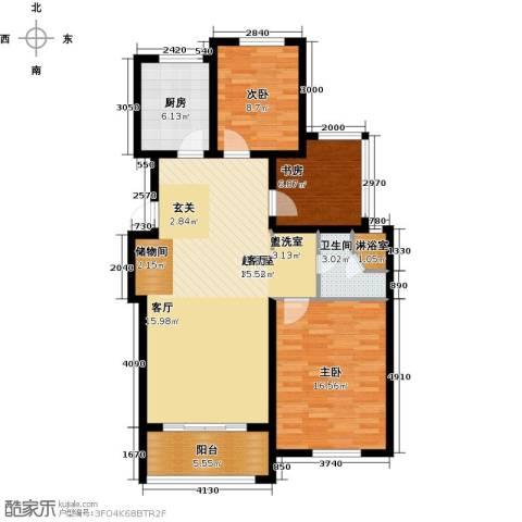 青枫国际3室0厅1卫1厨94.00㎡户型图