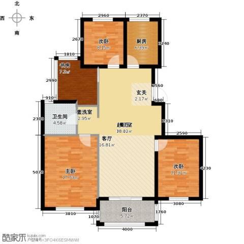 青枫国际4室0厅1卫1厨110.00㎡户型图