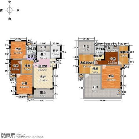 力达紫御府5室0厅2卫1厨198.00㎡户型图