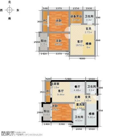 怡水花园三期3室1厅3卫0厨147.00㎡户型图