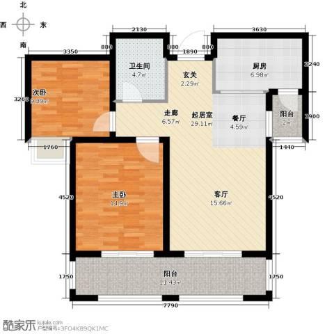 德州星凯国际广场2室0厅1卫1厨112.00㎡户型图