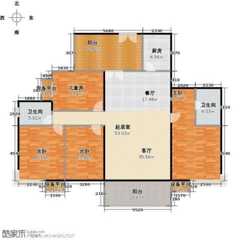 振兴香樟雅苑4室0厅2卫1厨178.00㎡户型图