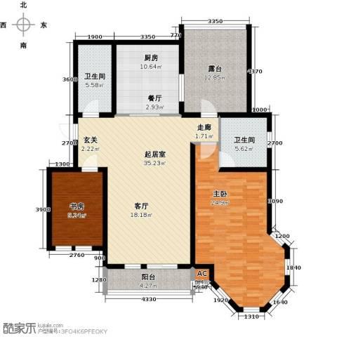 第6城三期2室0厅2卫1厨154.00㎡户型图