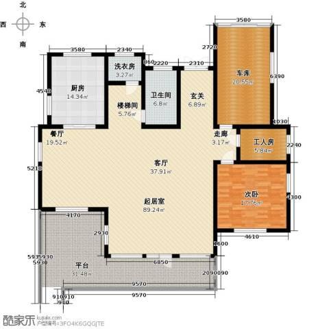 蟠龙山水三期1室0厅1卫1厨218.00㎡户型图