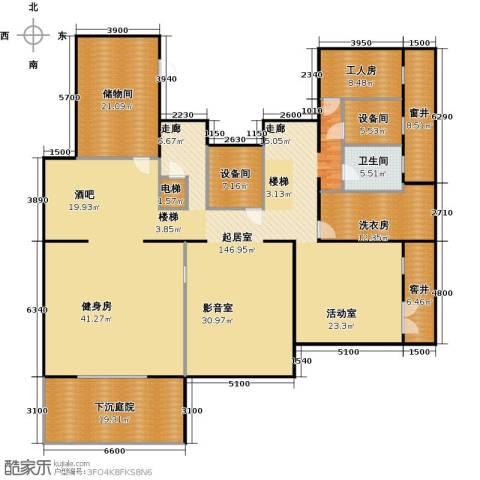 香山清琴1卫0厨242.91㎡户型图