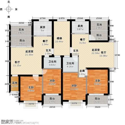 世纪绿城4室0厅2卫2厨130.86㎡户型图