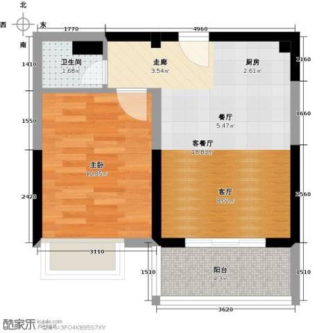 御景龙庭1室1厅1卫0厨62.00㎡户型图