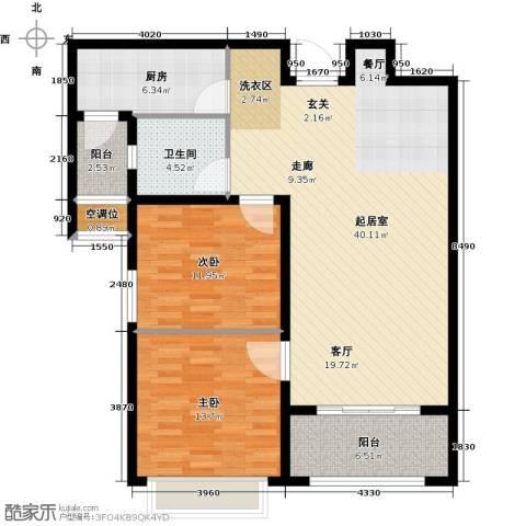 德州星凯国际广场2室0厅1卫1厨122.00㎡户型图