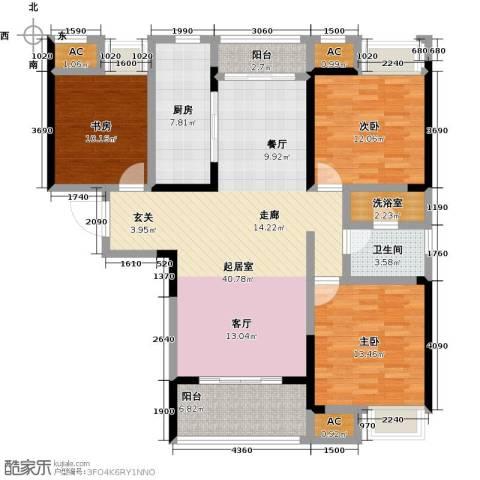 天安尚城二期3室0厅1卫1厨120.00㎡户型图