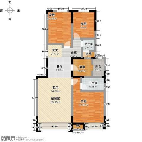 中海・紫御江城3室0厅2卫1厨137.00㎡户型图