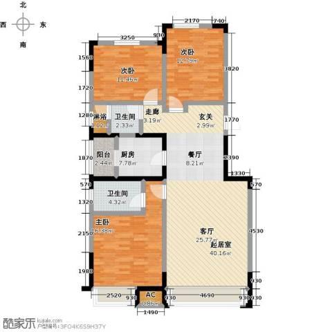 中海・紫御江城3室0厅2卫1厨140.00㎡户型图