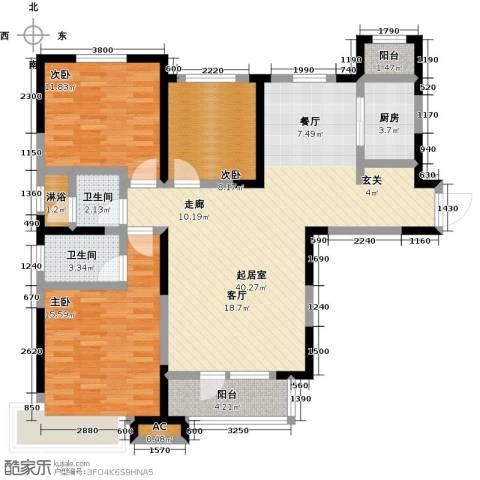 中海・紫御江城3室0厅2卫1厨135.00㎡户型图