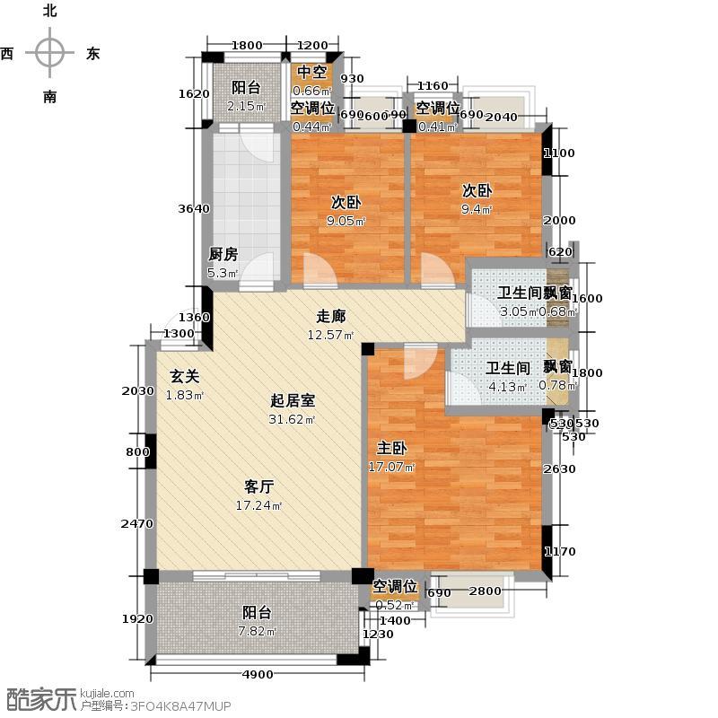 联发旭景103.00㎡36#D4户型3室2厅2卫