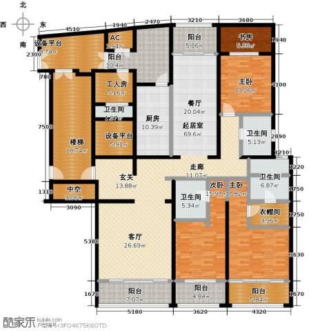 湖滨御景花园4室0厅4卫1厨255.00㎡户型图