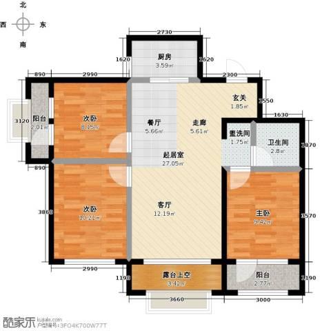 大连玉龙湾3室0厅1卫1厨100.00㎡户型图