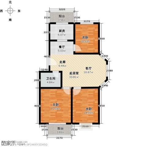 新澳花园3室0厅1卫1厨130.00㎡户型图