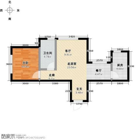 大连玉龙湾1室0厅1卫1厨61.00㎡户型图