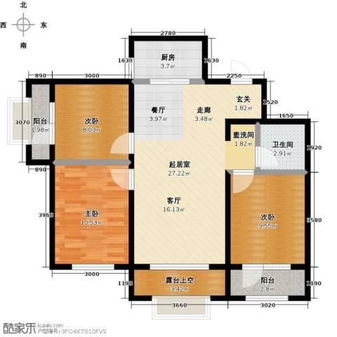 大连玉龙湾3室0厅1卫1厨101.00㎡户型图