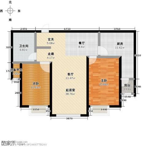 金广东海岸一期2室0厅1卫1厨126.00㎡户型图